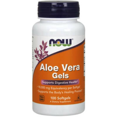 NOW Aloe Vera 10,000 mg 100 db. Lágy zselatin kapszula