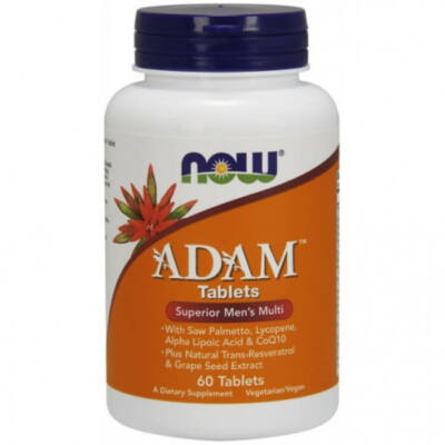 NOW ADAM Superior Men's Multiple Vitamin - 60 Tablets