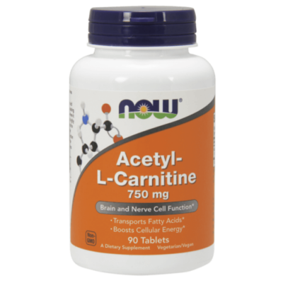 Now Acetyl-L Carnitine 750mg 90 tabl.