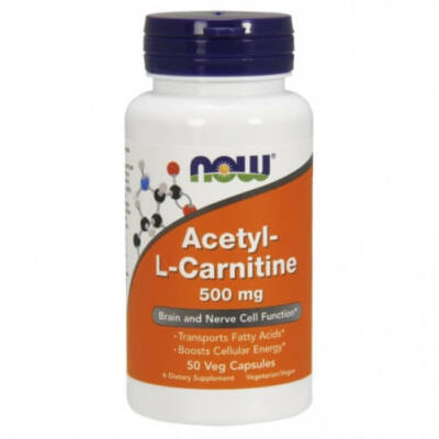 Now Acetyl-L Carnitine 500mg 50Vcaps