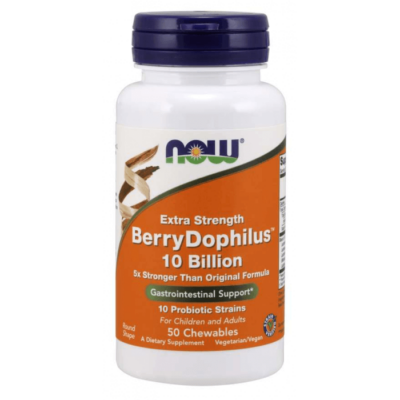Now BerryDophilus™ 10 Billion Extra Strength - 50 Chewables