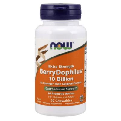 Now BerryDophilus™ 10 Billion Extra Strength - 50 Chewables