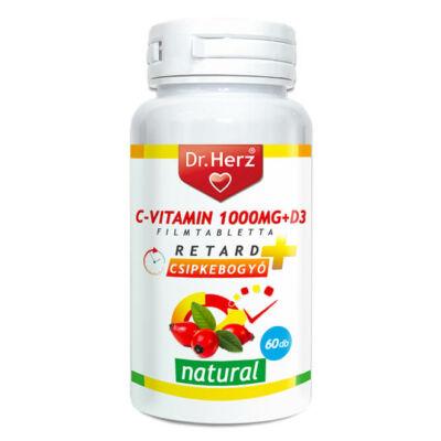 Dr. Herz C-vitamin 1000mg csipkebogyó kivonattal + D3 60 db tabletta