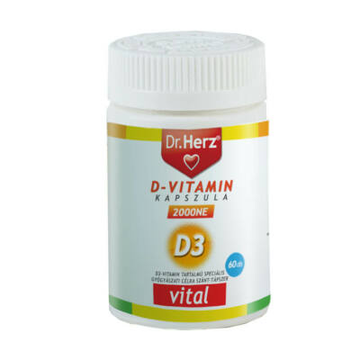Dr. Herz D-vitamin 2000 NE 60 db lágykapszula speciális gyógyászati célra szánt tápszer