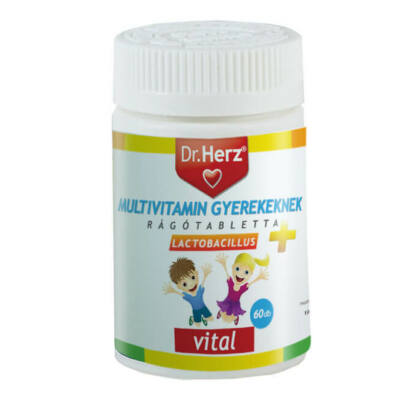 Dr. Herz Multivitamin Gyerekeknek+Lactobacillus 60 db tabletta