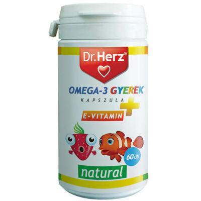 Dr. Herz Omega-3 Gyerek 60 db lágyzselatin kapszula