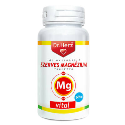 Dr. Herz Szerves Magnézium + B6 + D3 60 db tabletta