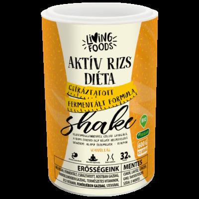 Living Foods Aktív Rizs Diéta Shake vaníliás 600 g