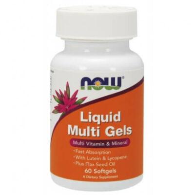 NOW Multi Vitamin, Liquid Multi Gels - 60db. Lágy zselatin kapszula