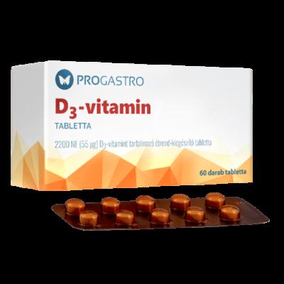 ProGastro D3–vitamin 2200 NE  (60 db)
