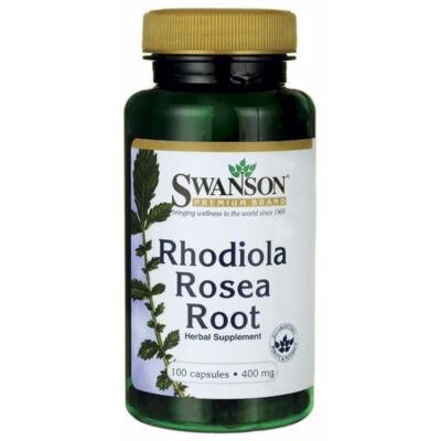 Swanson Rhodiola Rosea (aranygyökér-rózsagyökér) kivonat 100db 400mg.