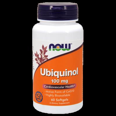Now Ubiquinol 100 mg - 60 Softgels