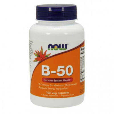 Now B-50mg - 100 Veg Capsules