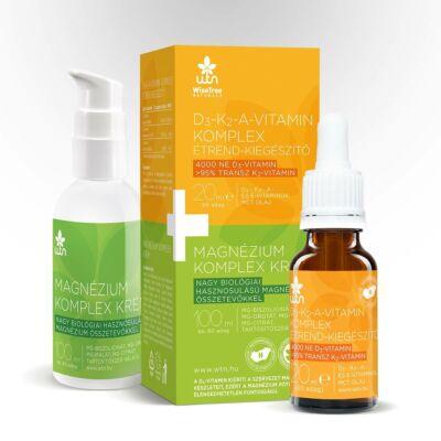 WTN D3- K2- A-vitamin komplex+magnézium krém Wise Tree Naturals AKCIÓ ingyen kiszállítás