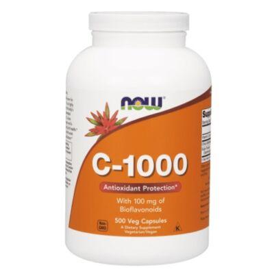 NOW C-vitamin 1000 mg, bioflavonoiddal és rutinnal 500 kapszula