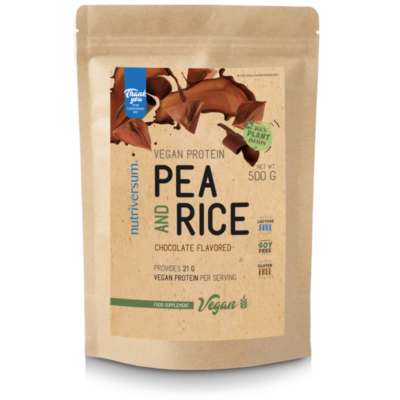 Nutriversum Pea & Rice Vegan Protein - 500g - VEGAN - csokoládé