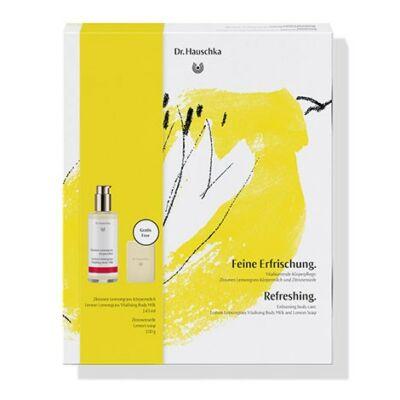 Virágzó hangulat ajándékcsomag - Citrom-citromfű testápoló tej 145 ml - ajándék exkluzív limitált Citrom szappan