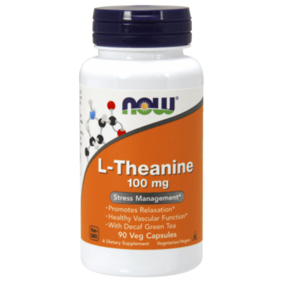NOW L-Theanine 100 mg - 90 Veg Capsules