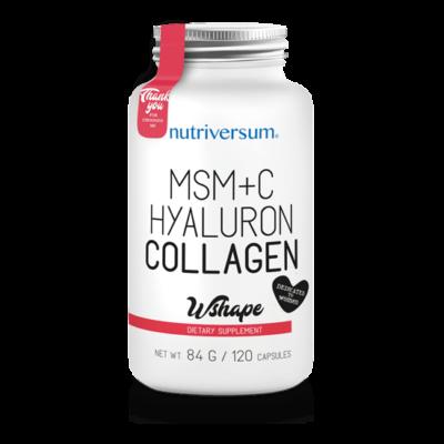 Nutriversum MSM+C Hyaluron Collagen - 120 kapszula - WSHAPE  kollagén