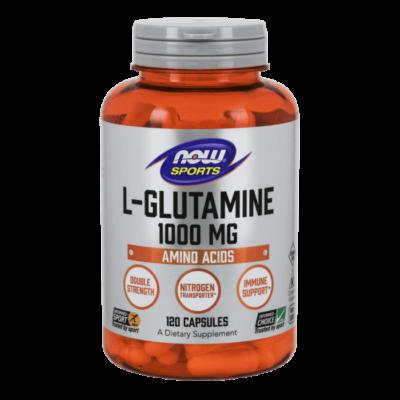 NOW L-Glutamine 1000 mg - 120 Capsules