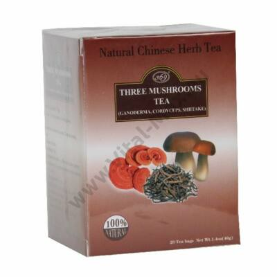 Három gomba tea