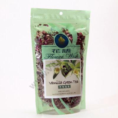 Szálas zöld tea vaníliavirággal