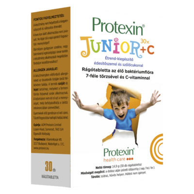 Protexin Junior +C 30 db rágótabletta