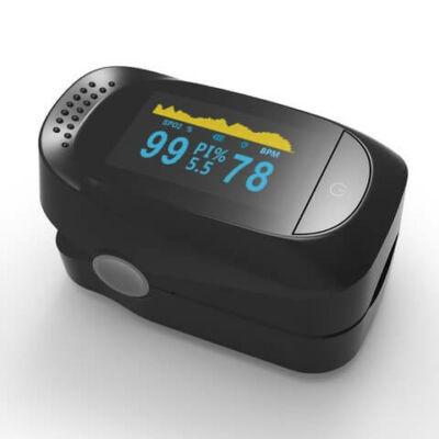 Véroxigénmérő és pulzusmérő OLED kijelzővel Pulzoximéter SpO2