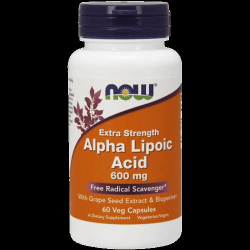 Now Alpha Lipoic Acid 600mg 60Veg Caps