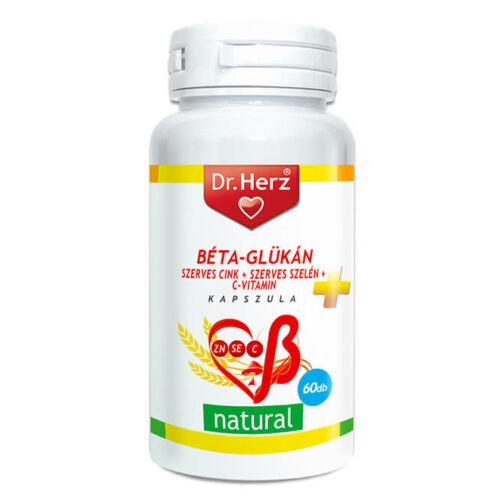 Dr. Herz Béta-Glükán+Szerves Zn+Se+C-vitamin 60 db kapszula