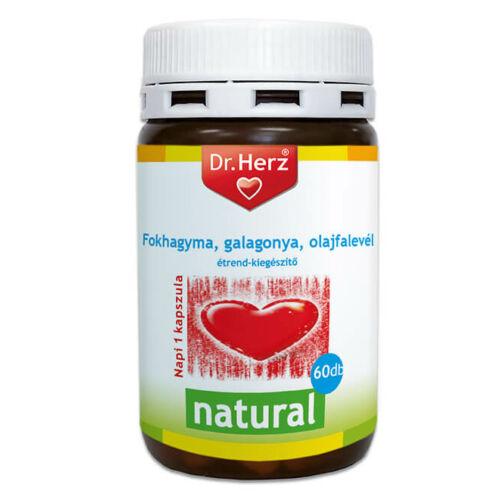 Dr. Herz Cardio Fokhagyma + Galagonya + Olajfalevél kapszula 60 db