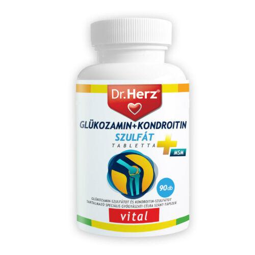 Dr. Herz Glükozamin + Kondroitin + Szulfát + MSM 90db tabletta speciális gyógyászati célra szánt tápszer