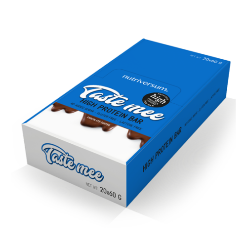 Nutriversum Taste Mee Protein Bar - DESSERT - Több ízben  20x60 g (csoki bevonatos)