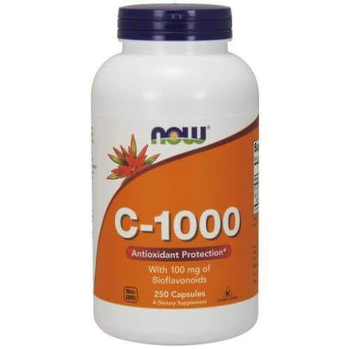 NOW 1000 mg C-vitamin, bioflavonoiddal és rutinnal 250 kapszula