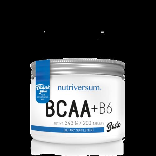 Nutriversum BCAA+B6 - 200 tabletta - BASIC