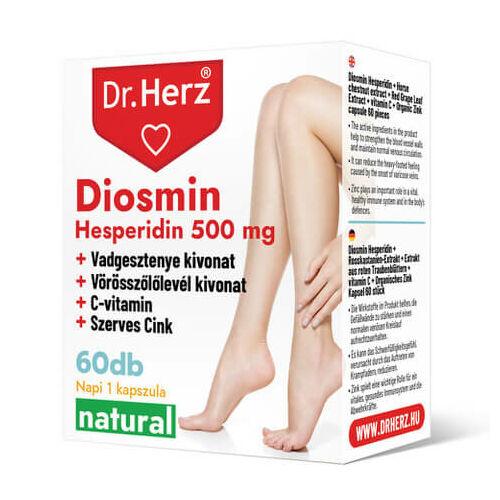 Dr. Herz Diosmin Hesperidin 500 mg 60 db kapszula